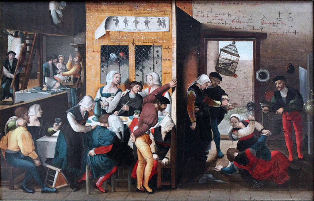 Bild - Bordellszene 1537 - Gemälde