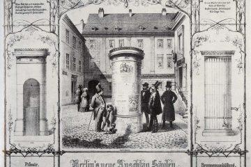 Bild Berlins erste Litfaßsäule