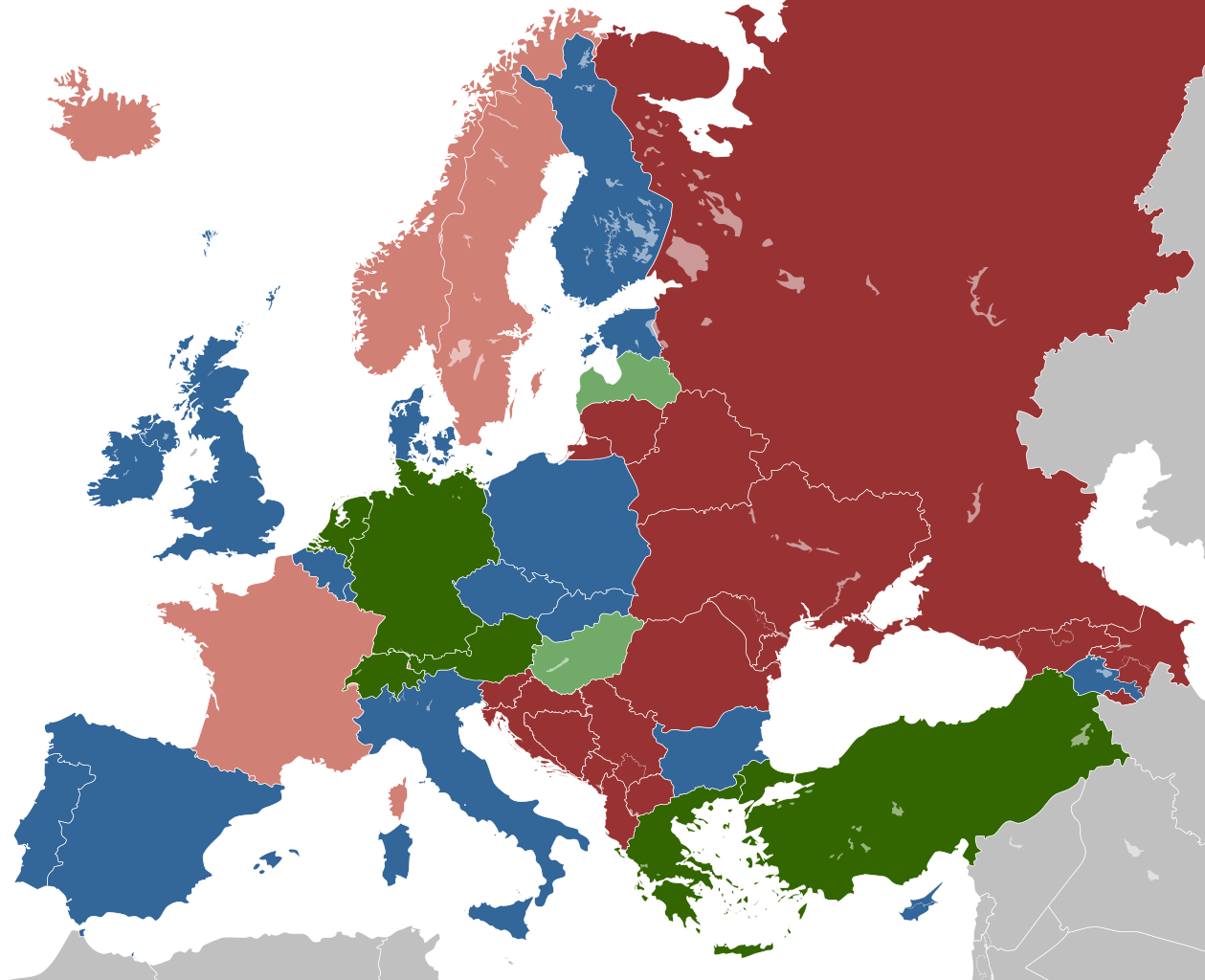 Prostitution in Europe by countries