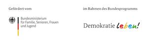 Logo - BMFSFJ Demokratie Leben mit Förderzusatz